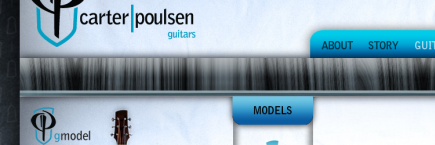 Carter/Poulsen Guitars Screenshot